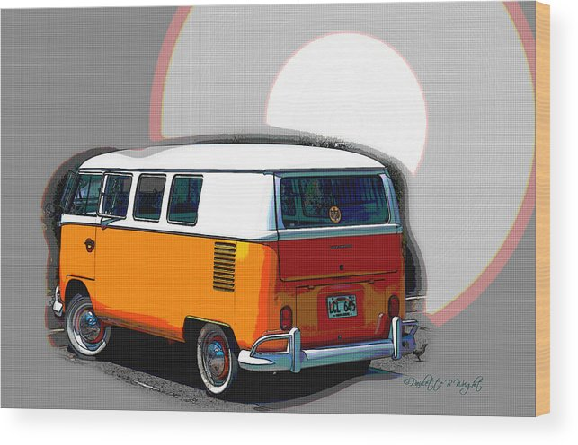 Interior Design Wood Print featuring the photograph Vw Wagon by Paulette B Wright
