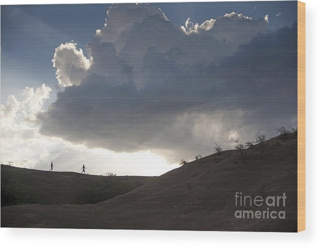 Haiti Wood Print featuring the photograph Walking In The Cloud by Theresa Saxon