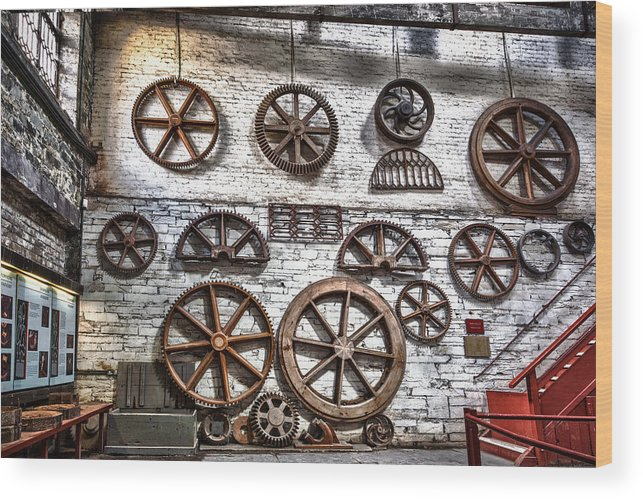 2012 Wood Print featuring the photograph Wall Of Wheels by Christine Smart
