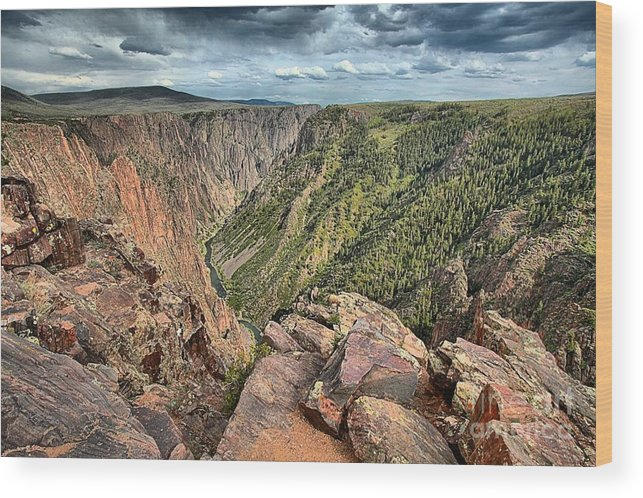 Black Canyon Wood Print featuring the photograph Walls Of The Black Canyon by Adam Jewell
