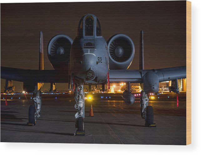 A-10 Wood Print featuring the photograph Warthog by Nathan Gingles