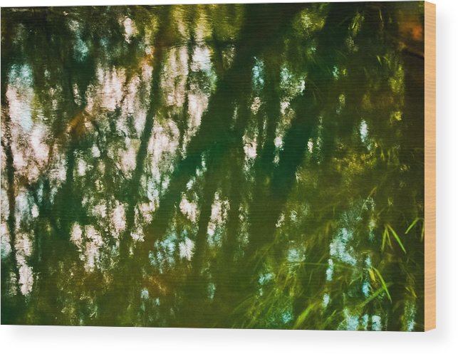 Abstract Wood Print featuring the photograph Water Ghosts by Alexander Kunz