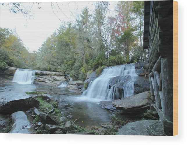 Waterfall Wood Print featuring the photograph Waterfall Country by Cathy Donohoue