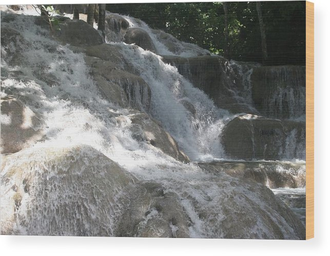 Water Fall Wood Print featuring the photograph Waterfall by Dervent Wiltshire