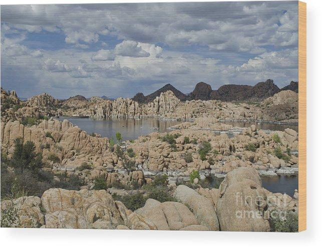Watson Lake Wood Print featuring the photograph Watson Lake Arizona by Maria Janicki