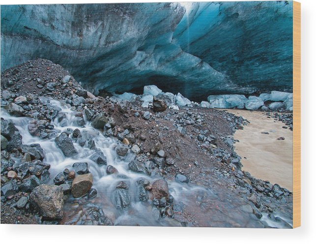 Iceland Wood Print featuring the photograph We All Fall Down by Jim Southwell