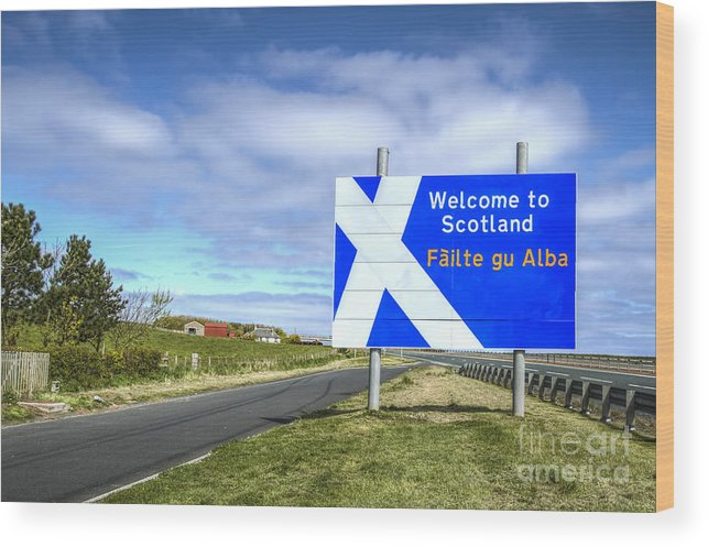 Scotland Wood Print featuring the photograph Welcome To Scotland by Evelina Kremsdorf