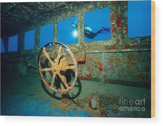 Wheel House Wood Print featuring the photograph Wheel House by Aaron Whittemore