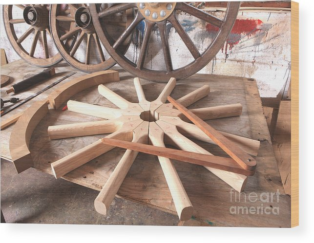 Wheelwright Wood Print featuring the photograph Wheelwright by Paul Felix