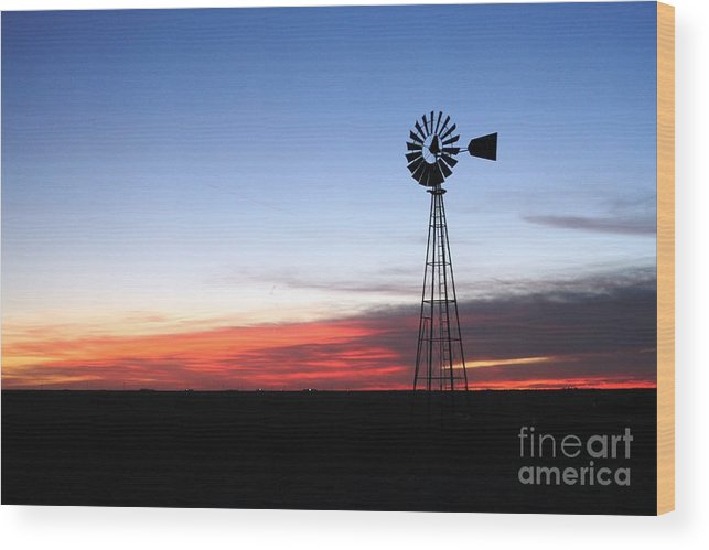 Thegypsylens Wood Print featuring the photograph Windmill 1 by Ashley M Conger