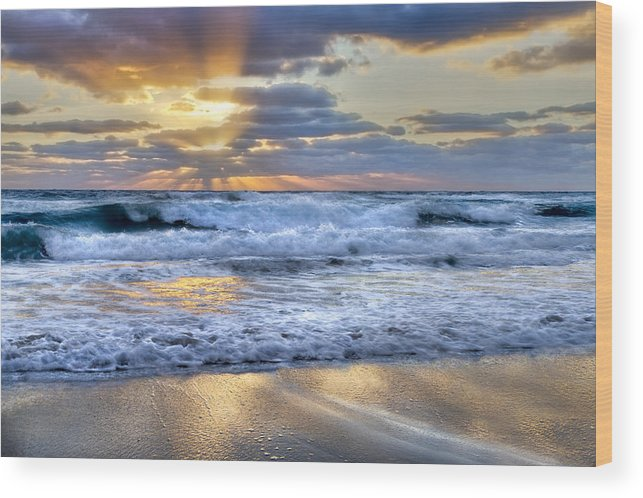 Clouds Wood Print featuring the photograph Window To Heaven by Debra and Dave Vanderlaan