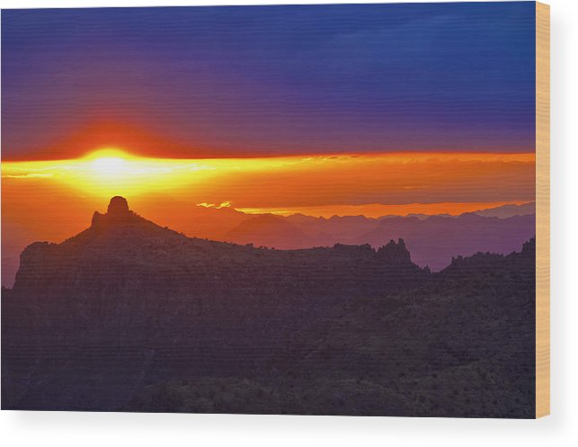 Sunset Wood Print featuring the photograph Windsong by Patrick Moore