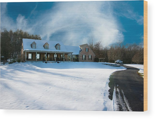 Winter Day Three Wood Print featuring the photograph Winter Day Three by Randall Branham