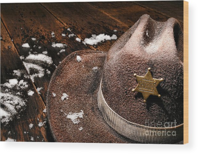 Sheriff Wood Print featuring the photograph Winter Duty by Olivier Le Queinec