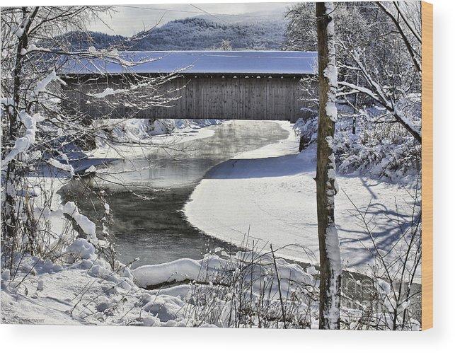Brook Wood Print featuring the photograph Winter Scene In Montgomery by Deborah Benoit