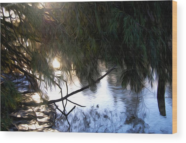 River Wood Print featuring the photograph Wishkah River by Angela Edwards