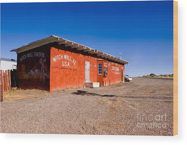 Arizona Wood Print featuring the photograph Witch Wells Arizona by Jerry Fornarotto