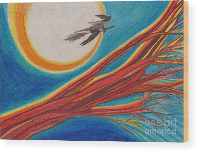 First Star Art Wood Print featuring the drawing Witches' Branch 1 By Jrr by First Star Art