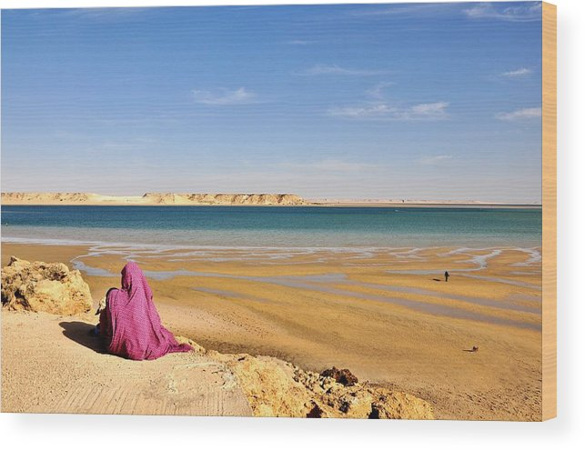 Woman Wood Print featuring the photograph Woman Of The Desert by Manu G
