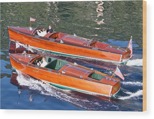 Riva Wood Print featuring the photograph Woodie Classics by Steven Lapkin