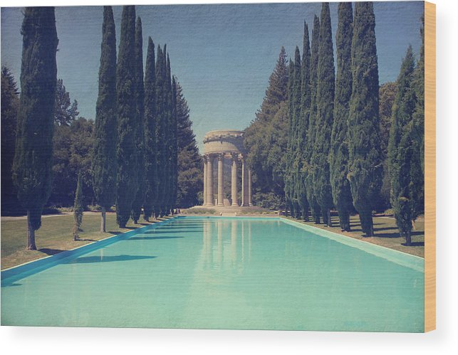 Pulgas Water Temple Wood Print featuring the photograph Worship by Laurie Search