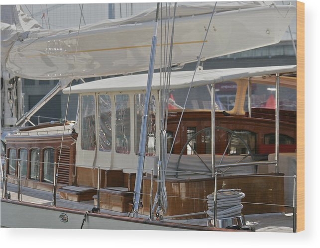 San Francisco Wood Print featuring the photograph Yachting by Steven Lapkin