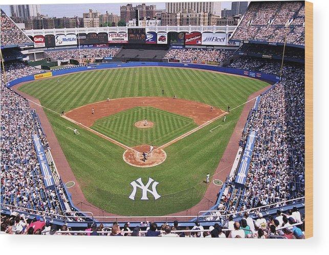 Yankee Stadium Wood Print featuring the photograph Yankee Stadium by Allen Beatty