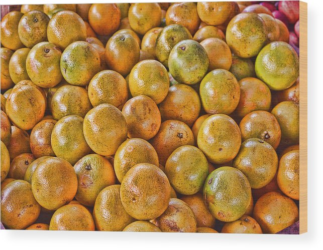 Oranges Wood Print featuring the digital art Yep Oranges by John Saunders