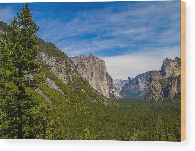 Yosemite Wood Print featuring the photograph Yosemite Valley by Brian Williamson