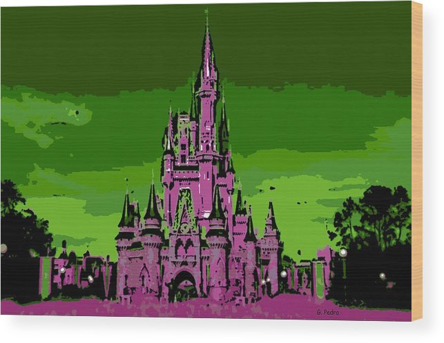 Disney World Wood Print featuring the photograph Castle Of Dreams by George Pedro