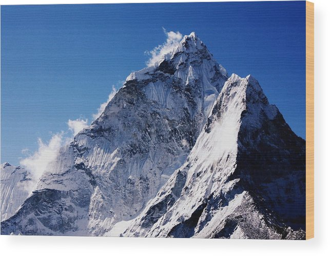 Wood Print featuring the photograph Ama Dablam by Al S