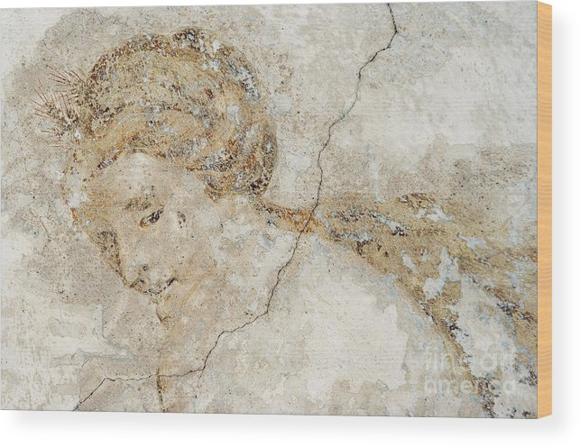 Mural Wood Print featuring the photograph Baroque Mural Painting by Michal Boubin