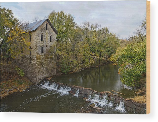 Mill Wood Print featuring the photograph Cedar Point Mill by Alan Hutchins