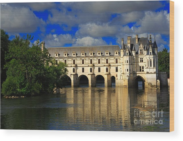 Chateau Wood Print featuring the photograph Chateau Chenonceau by Louise Heusinkveld