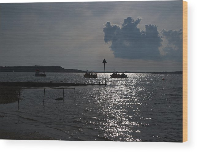 Christchurch Harbour Wood Print featuring the photograph Christchurch Harbour Viewed From Mudeford by Chris Day