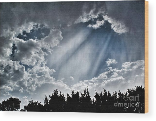 2012 Wood Print featuring the photograph Clouds And Sky by Matt Suess
