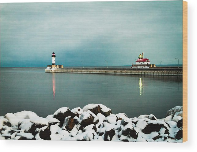 Duluth Wood Print featuring the photograph Duluth Harbor by David Wynia