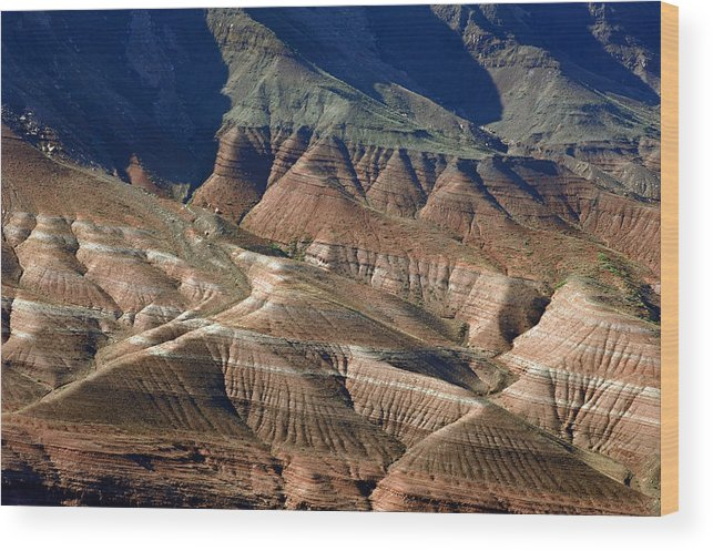 Grand Canyon Wood Print featuring the photograph Grand Canyon Rock Formations IIi by Julie Niemela