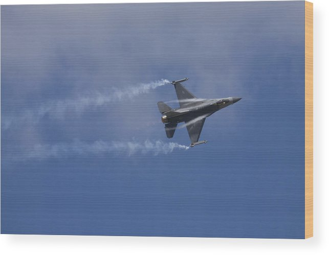 Plane Wood Print featuring the photograph Lockheed Martin F-16 Fighting Hornet by Ian Middleton