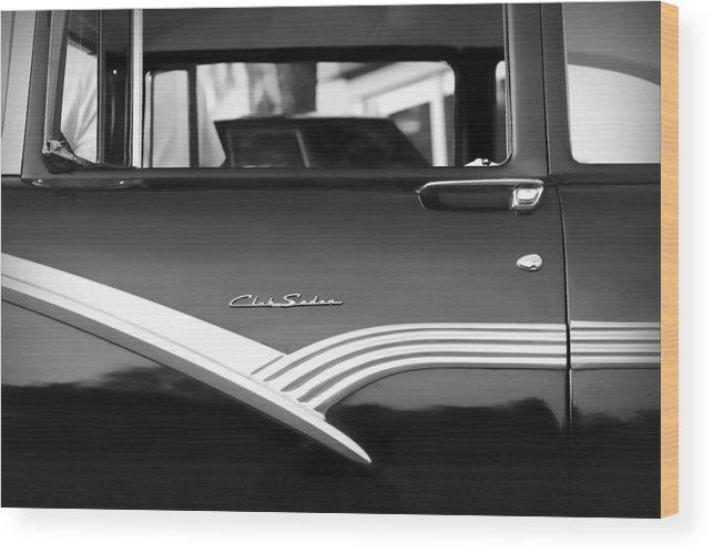 1956 Wood Print featuring the photograph 1956 Ford Fairlane Club Sedan by Gordon Dean II