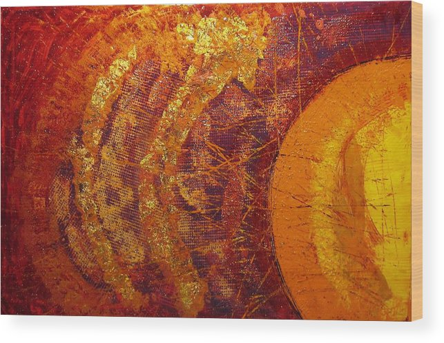Mixed Media Wood Print featuring the mixed media 2436m41 by Martin Dargevics