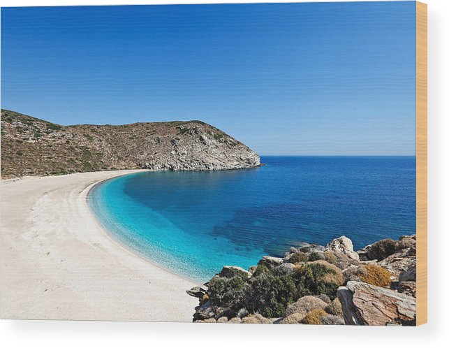 Aegean Wood Print featuring the photograph Andros Island - Greece by Constantinos Iliopoulos