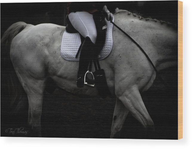 Dressage Wood Print featuring the photograph Dressage by Toni Thomas