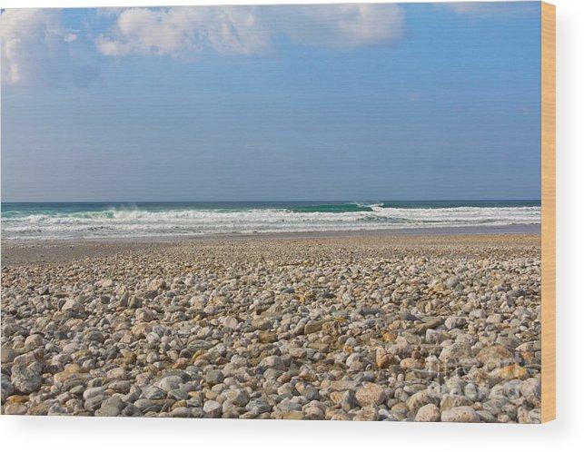 Cornish Seascape Wood Print featuring the photograph Porthtowan Cornwall by Brian Roscorla