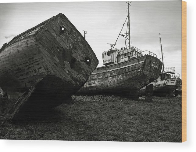 Old Wood Print featuring the photograph Old Abandoned Ships by RicardMN Photography