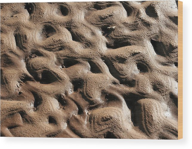 Abstract Wood Print featuring the photograph Abstract Sand 3 by Arie Arik Chen