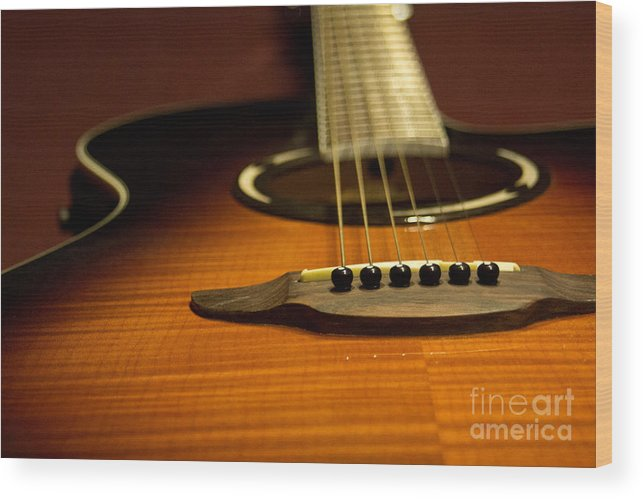 Music Wood Print featuring the photograph Acoustic Guitar by Derek Pisieczko