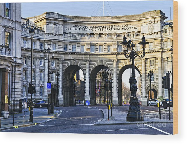 Admiralty Wood Print featuring the photograph Admiralty Arch In Westminster London by Elena Elisseeva