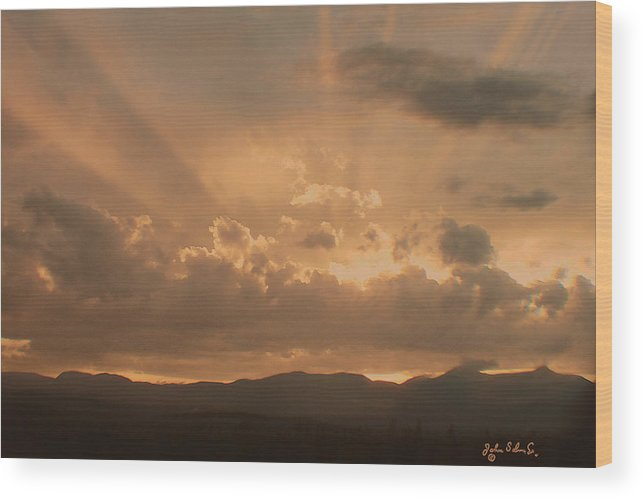 Sunset Wood Print featuring the digital art After The Storm by John Selmer Sr