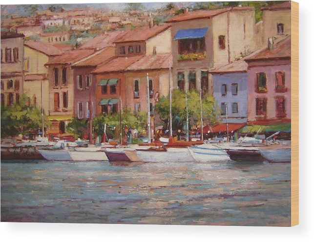 France Wood Print featuring the painting Afternoon Light In Cassis by R W Goetting